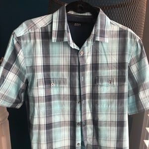 Men's button down shirt-short sleeve